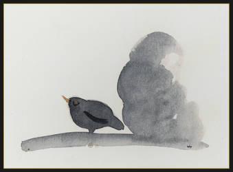 blackbird doodle