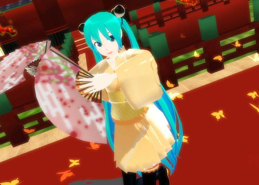 MMD Zeze Miku Kimono DL by monobuni