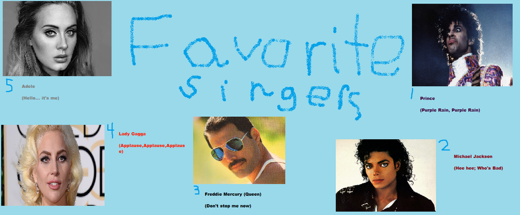 Fav. Singers by breawsomegreen