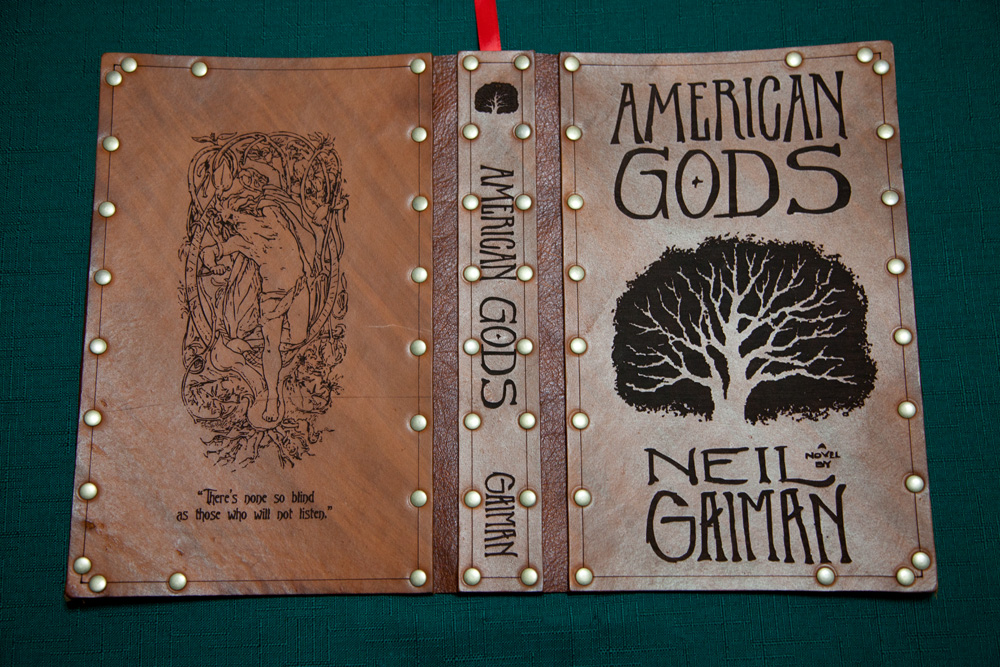 Leather cover for American Gods by Photoguy42