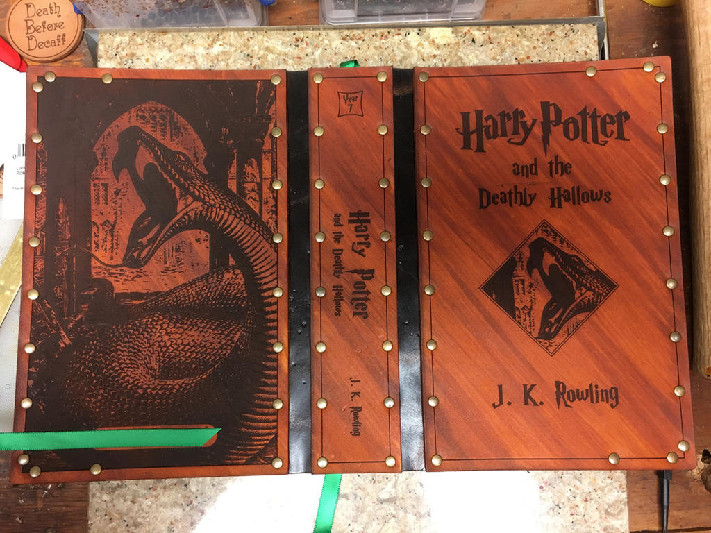 Harry Potter Book Leather Cover ~ Leather cover for harry potter book by photoguy on