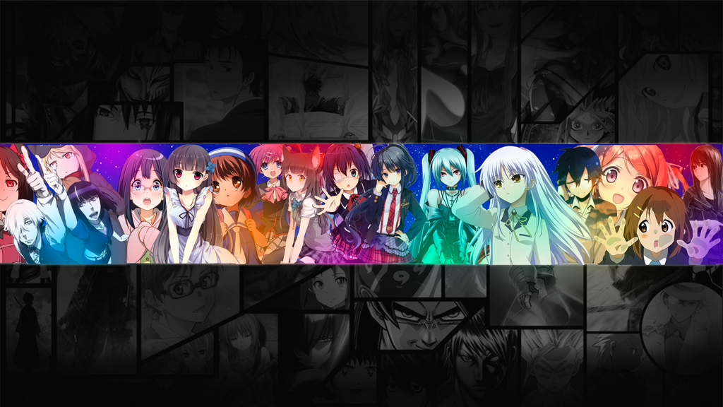 youtube channel art for anime youtube channels by bonbonbonsweet