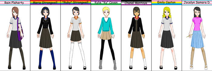 Rain Female Cast Schoolgirl Maker