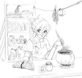 Sketch - Arisa Rosewind by KayaMegumi