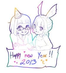 Happy New Year roaaar by KayaMegumi