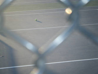 Ball + Chain Link Fence: Light by EcclecticCat