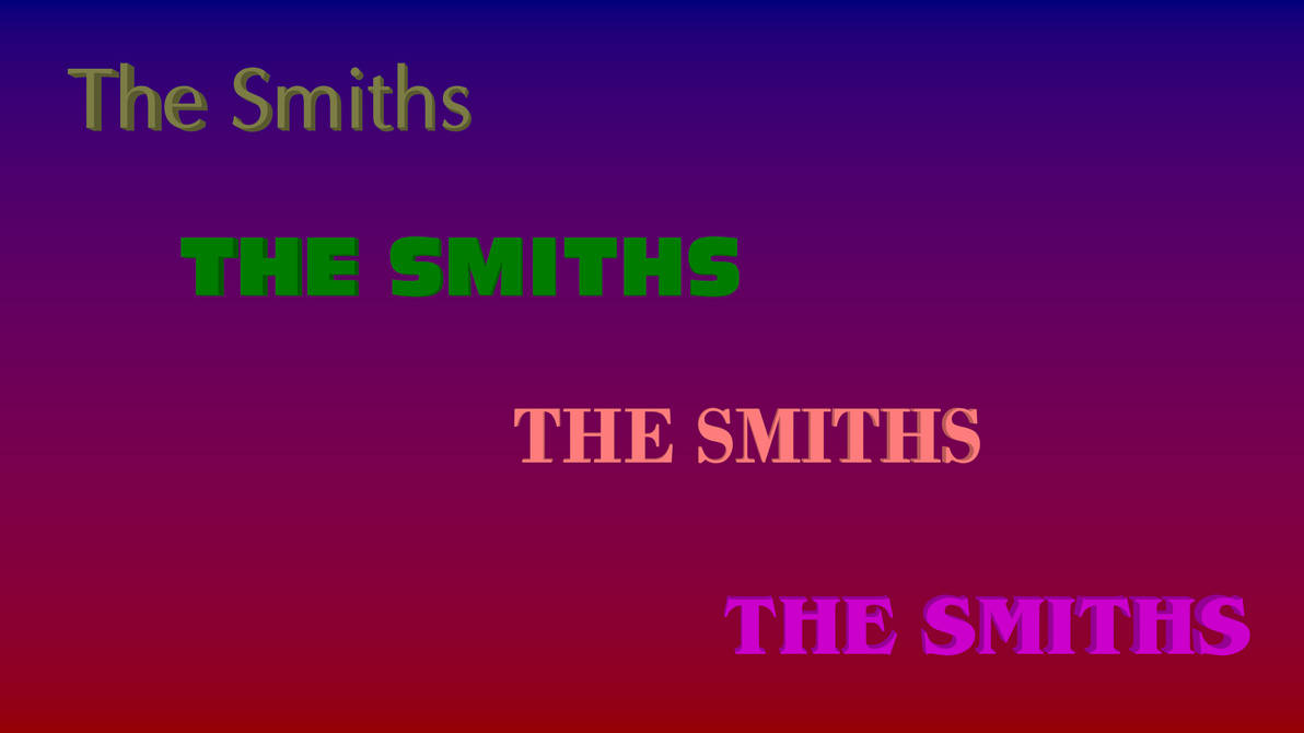 The Smiths Albums Logos by Thesaurus98 on DeviantArt