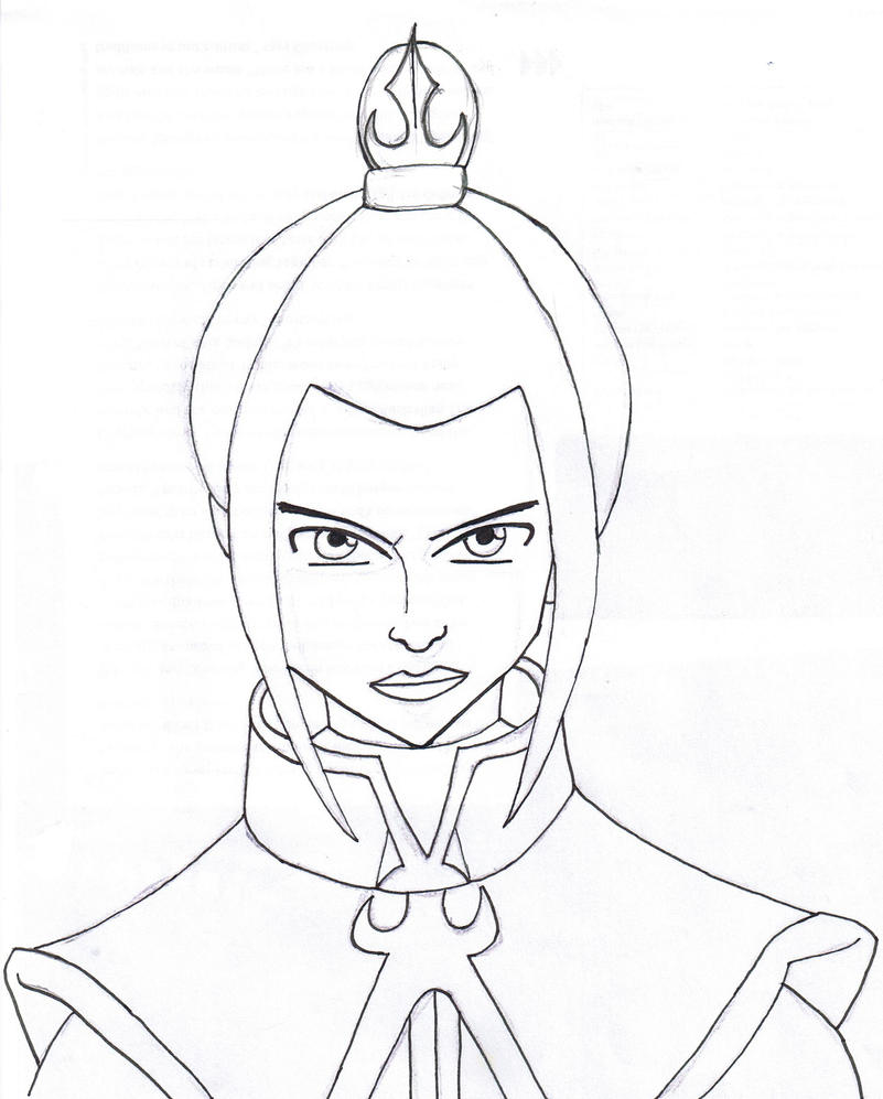 Avatar Movie Coloring Pages: Azula Lineart By SvalaW On DeviantArt