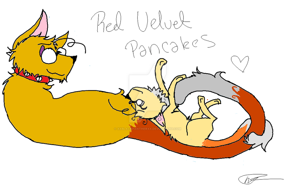 Red Velvet Pancakes by XxBlackpantherxX