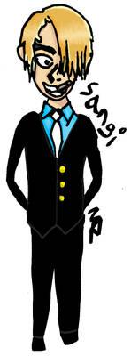 Sanji - 5min sketch colored