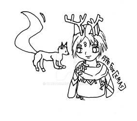 Ayakashi: Ghost Guild - Pipe Fox [Xmas] - Line