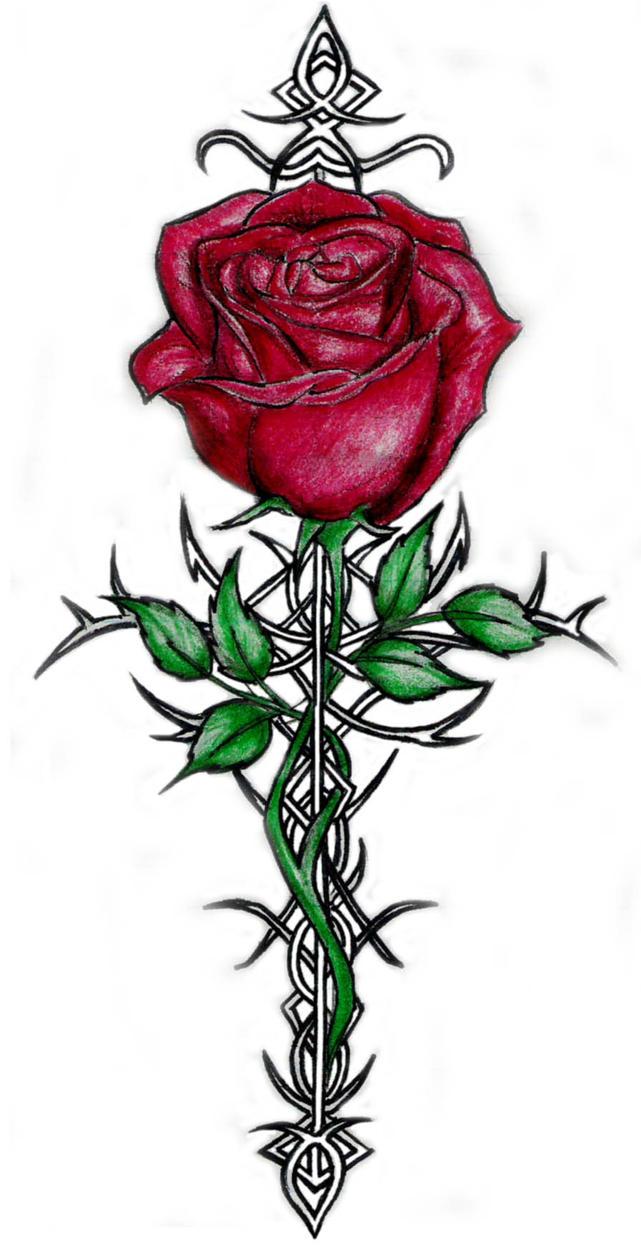 rose tattoo by hewoooow on deviantart