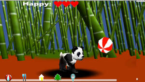 My Pet panda chasing ball by daughterofmoonlight