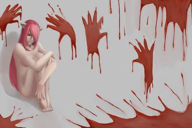Fanart - Elfen Lied - Lucy by kasami