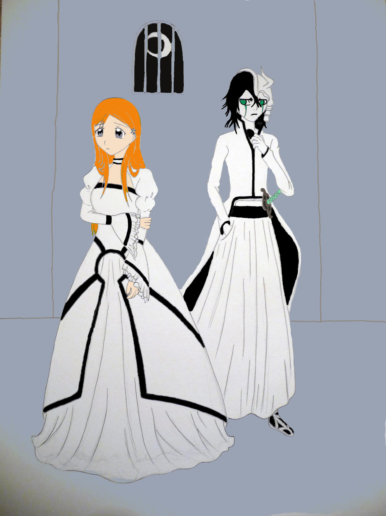 Ulquiorra and Orihime by xx-mia-xx