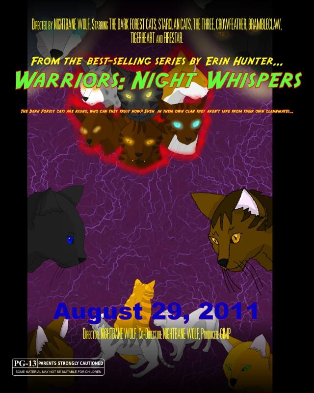 Warriors Book Series Movie: Warrior Cats Movie Poster By XX-NIGHTBANEWOLF-Xx On DeviantArt