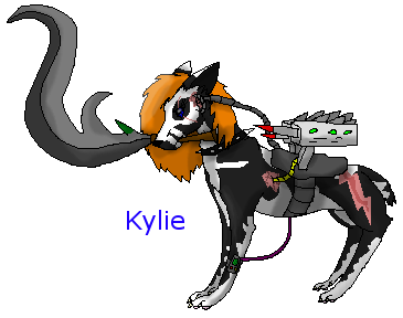 Character Concept: Kylie, the sharp blade by xX-NIGHTBANEWOLF-Xx