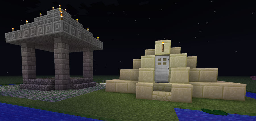 Minecraft First Try Well And Small Pyramid House By Xx Nightbanewolf Xx On Deviantart