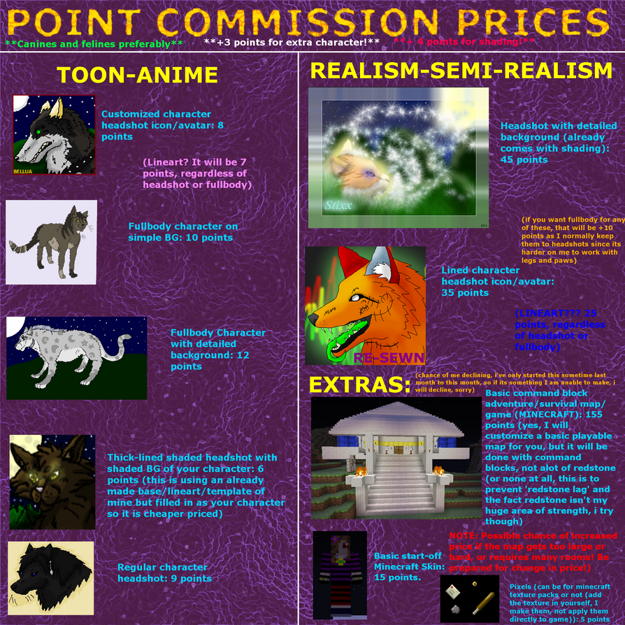 UPDATED PC PRICE LIST by xX-NIGHTBANEWOLF-Xx
