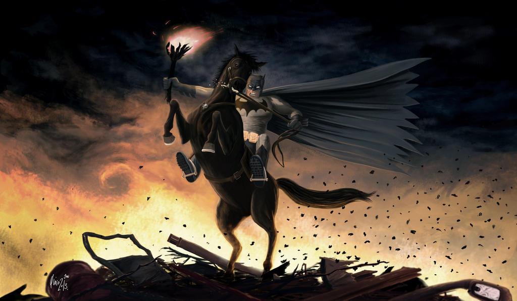 The Dark Knight by uRaioU