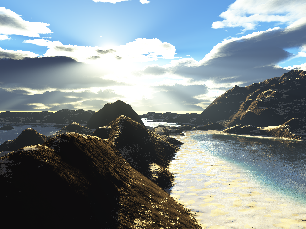 Mountain Beach by TokenArt