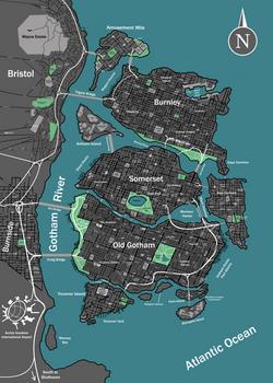 Earth-46: Gotham City Map