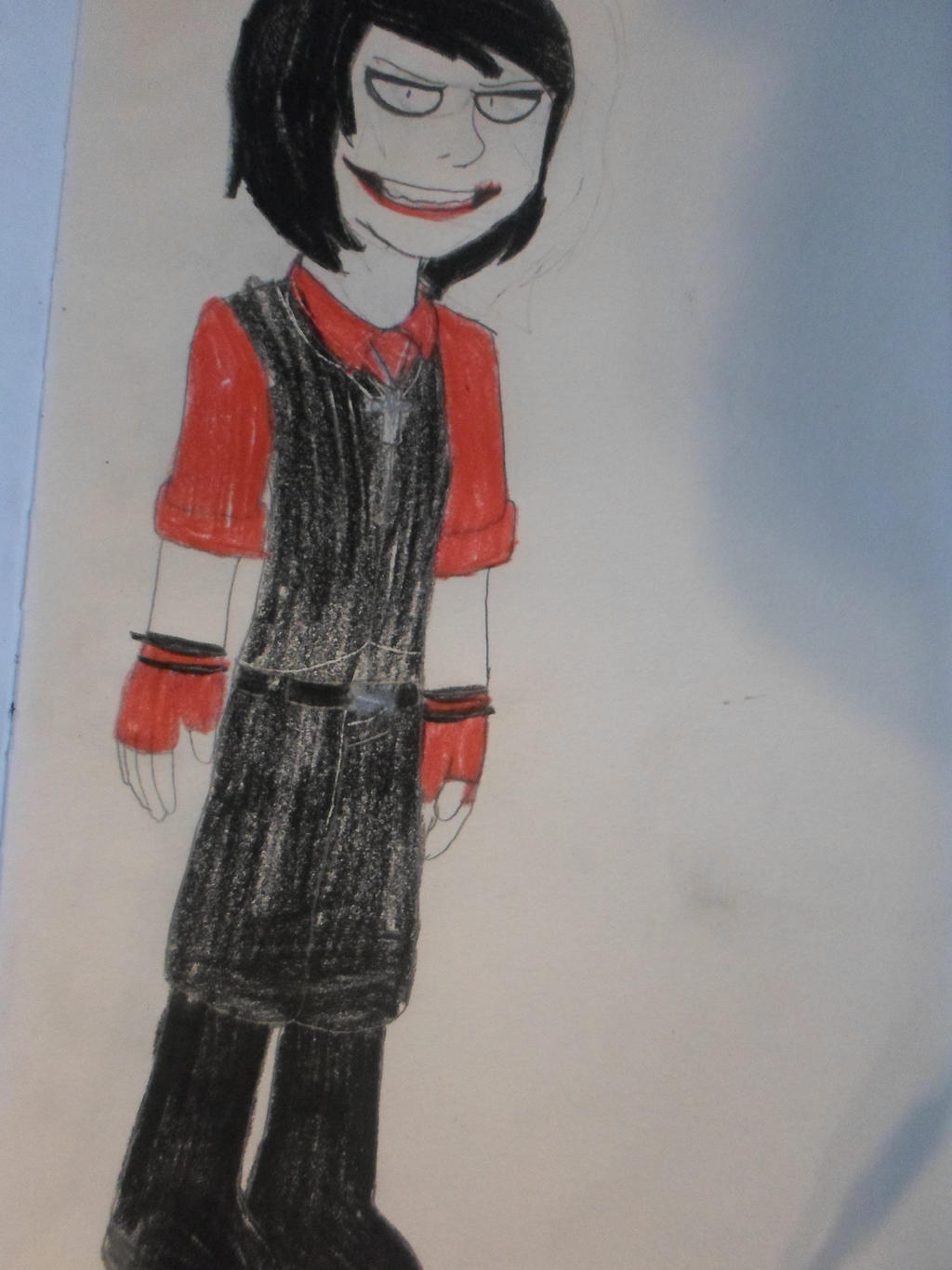 Jeff the killer red outfit by DarkKillerPincess
