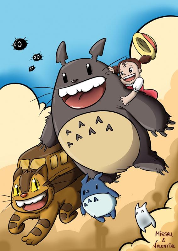 Volando Con Totoro by Admaya