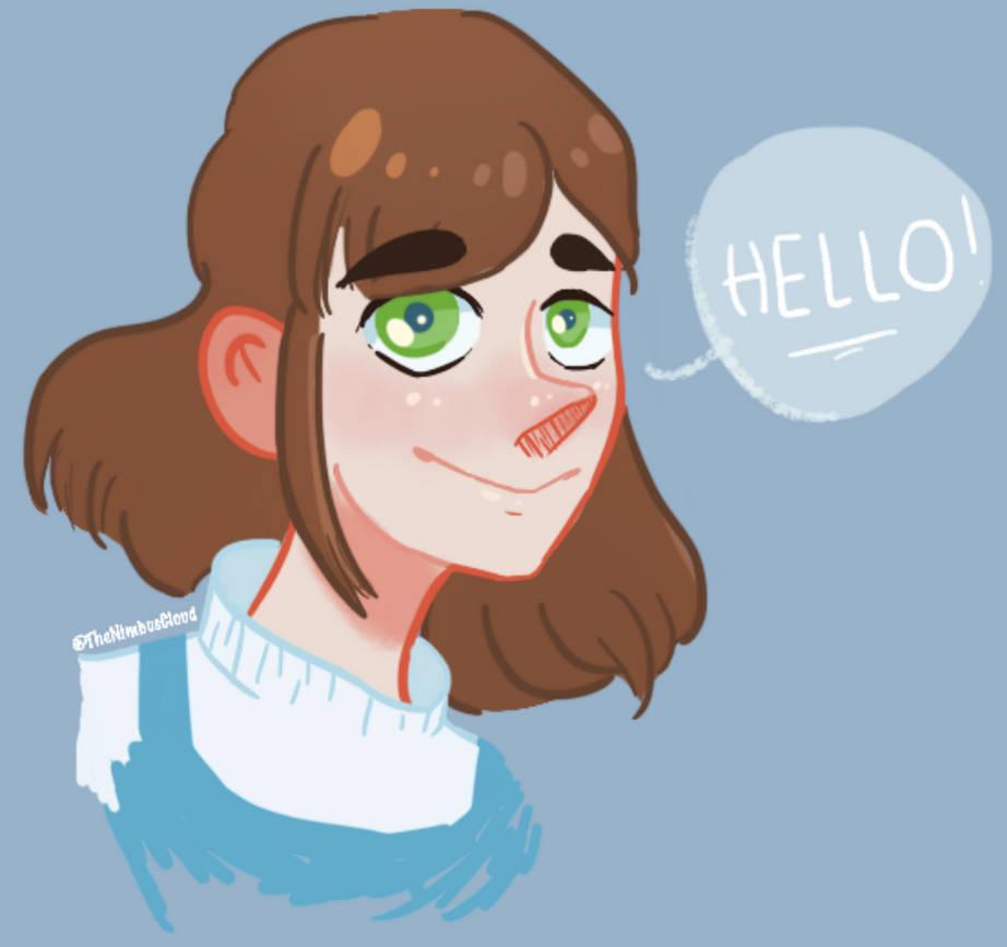 OC Lucy: Green eyes by TheNimbusCloud