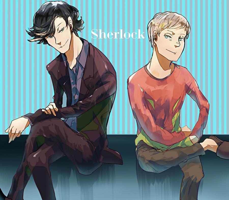 sherlock and john by Rihori