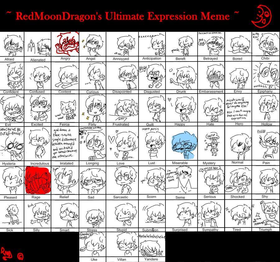 Big Ol' Expression Meme by Puds