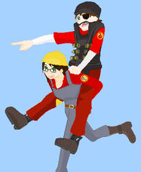 TF2 Engie and Demoman