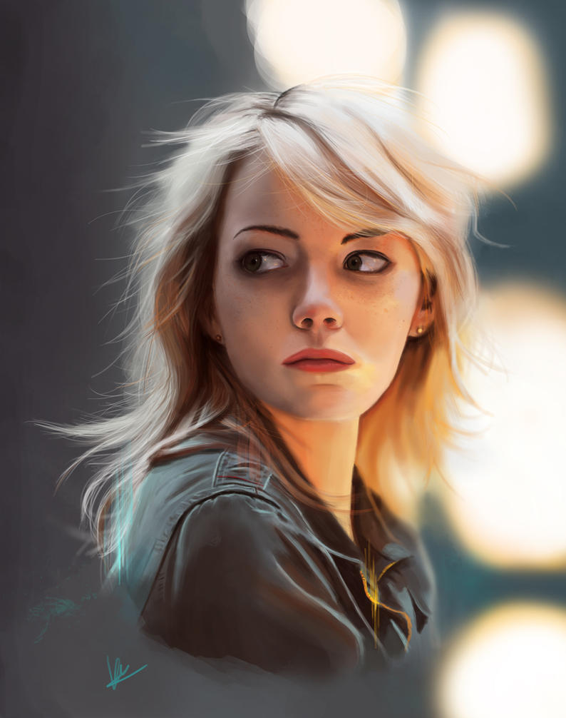 Emma Stone by KarkengChan