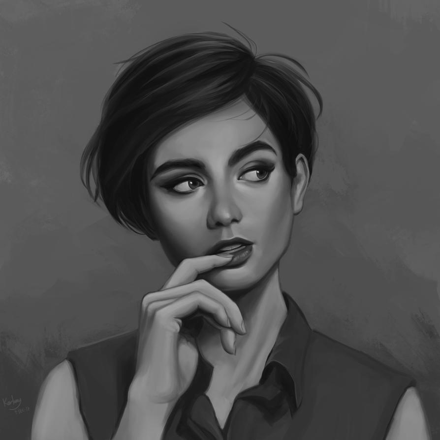 Lily Collins portrait practice by KarkengChan