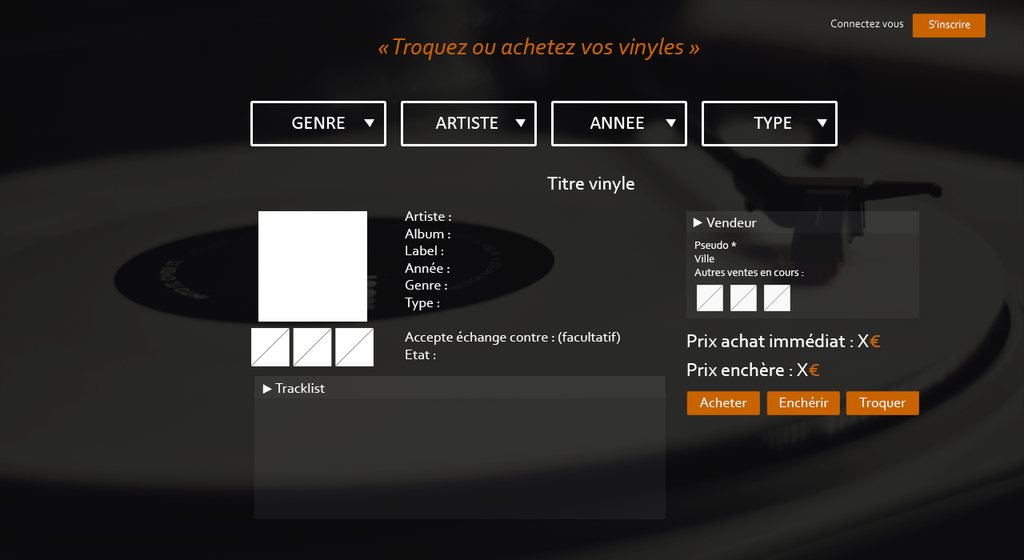 Une annonce vinyle - GP by Gtailly