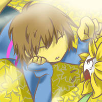 ~Frisk and Flowey~ by chiorihime