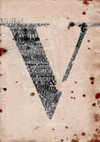 V For Vendetta Typography by bella-elizabetta