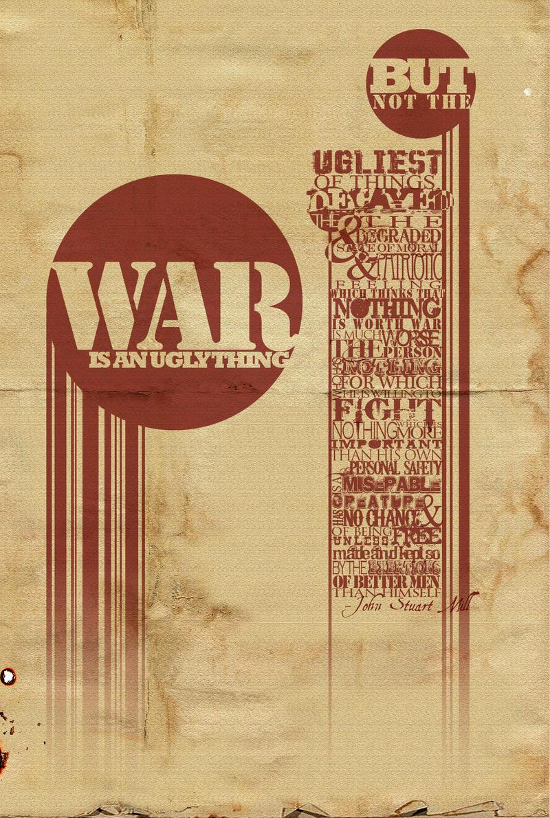 Typography Prompt: War