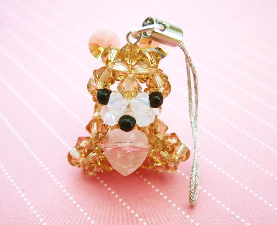 Teddy Bear Heart Charm by SparkleMeHappy