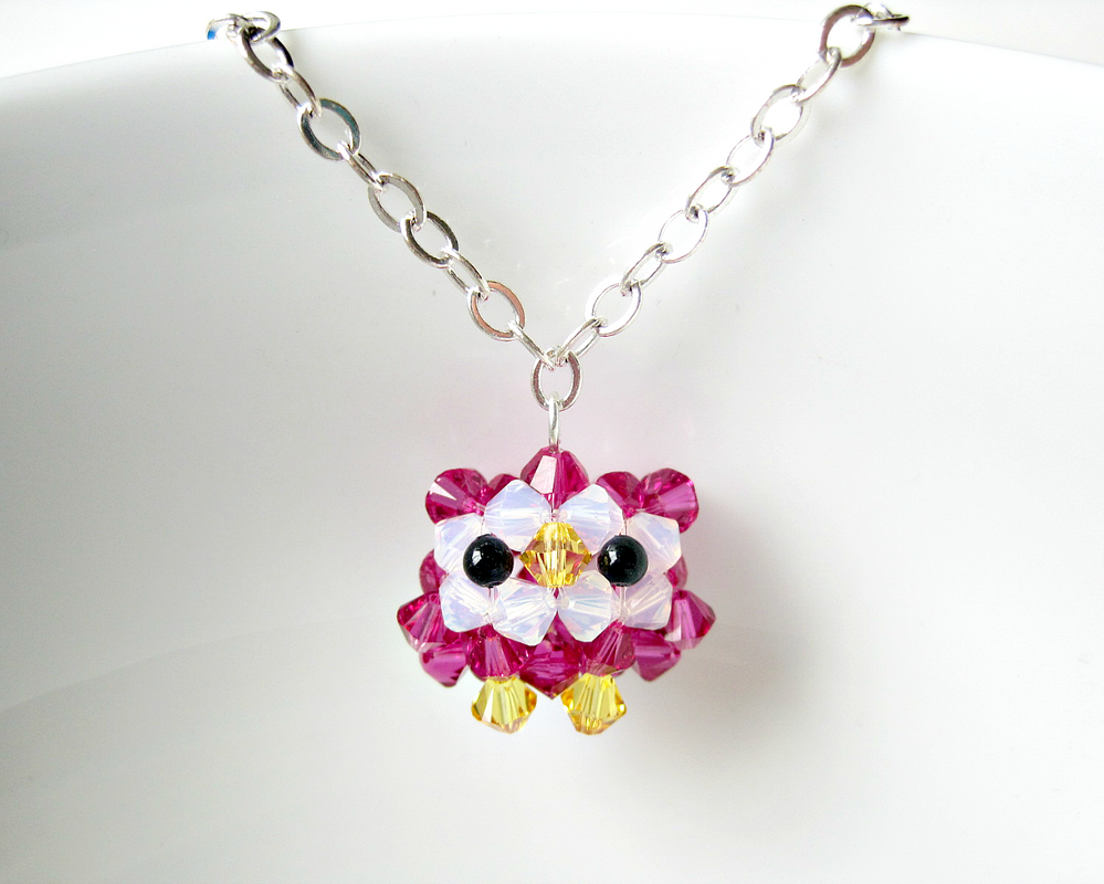 Baby Owl Necklace by SparkleMeHappy