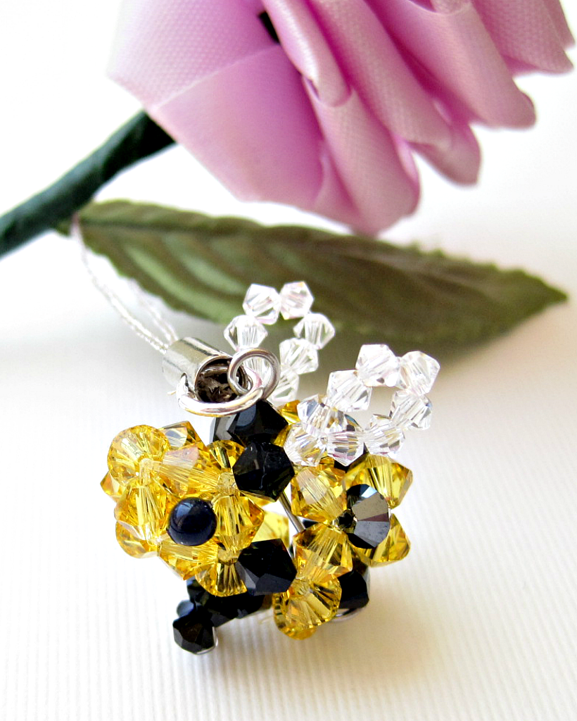 Bee Cell Phone Charm by SparkleMeHappy