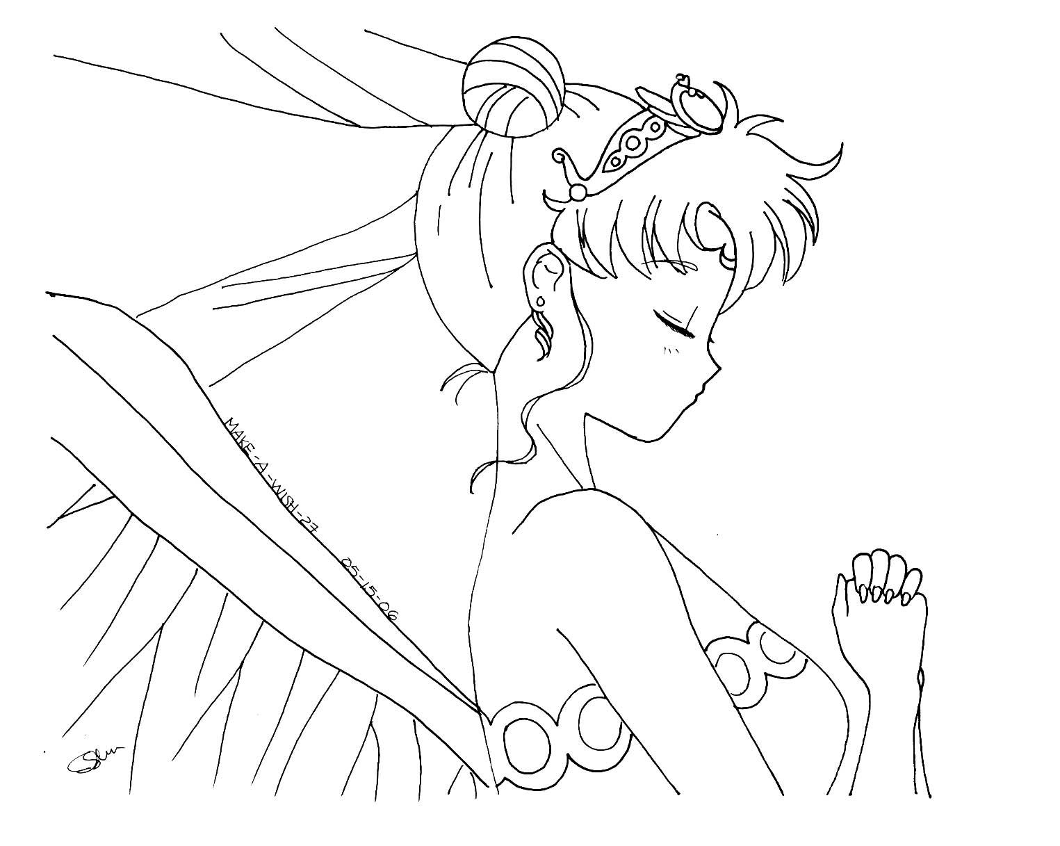 Sailor moon princess coloring pages