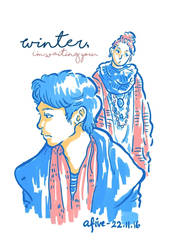 Winter. I'm waiting you... by a5paper
