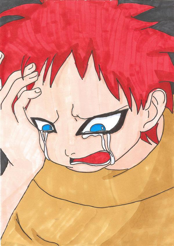 Little Gaara Crying by luffymd on deviantART Gaara Crying