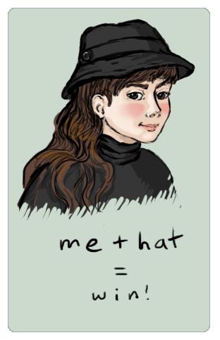 me + hat by rillani