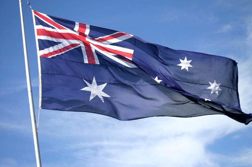 Australian flag by loustock