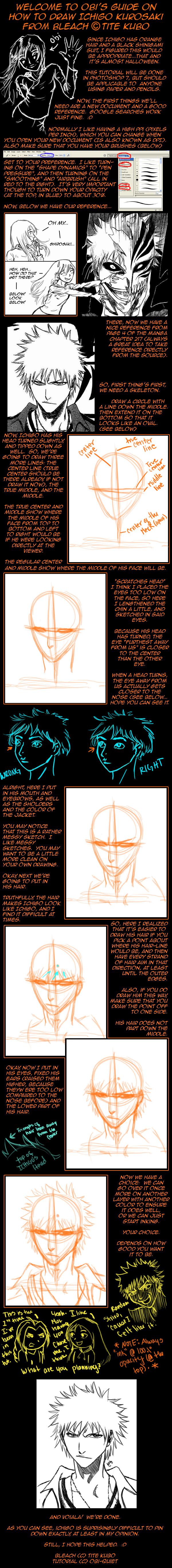How To Draw Ichigo Kurosaki by Obi-quiet