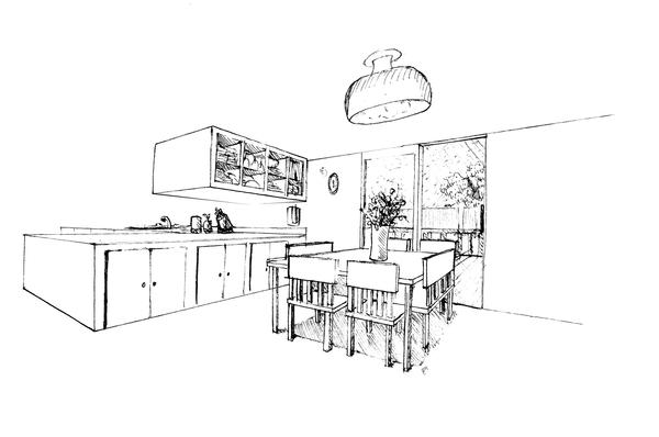dining room clipart black and white - photo #14