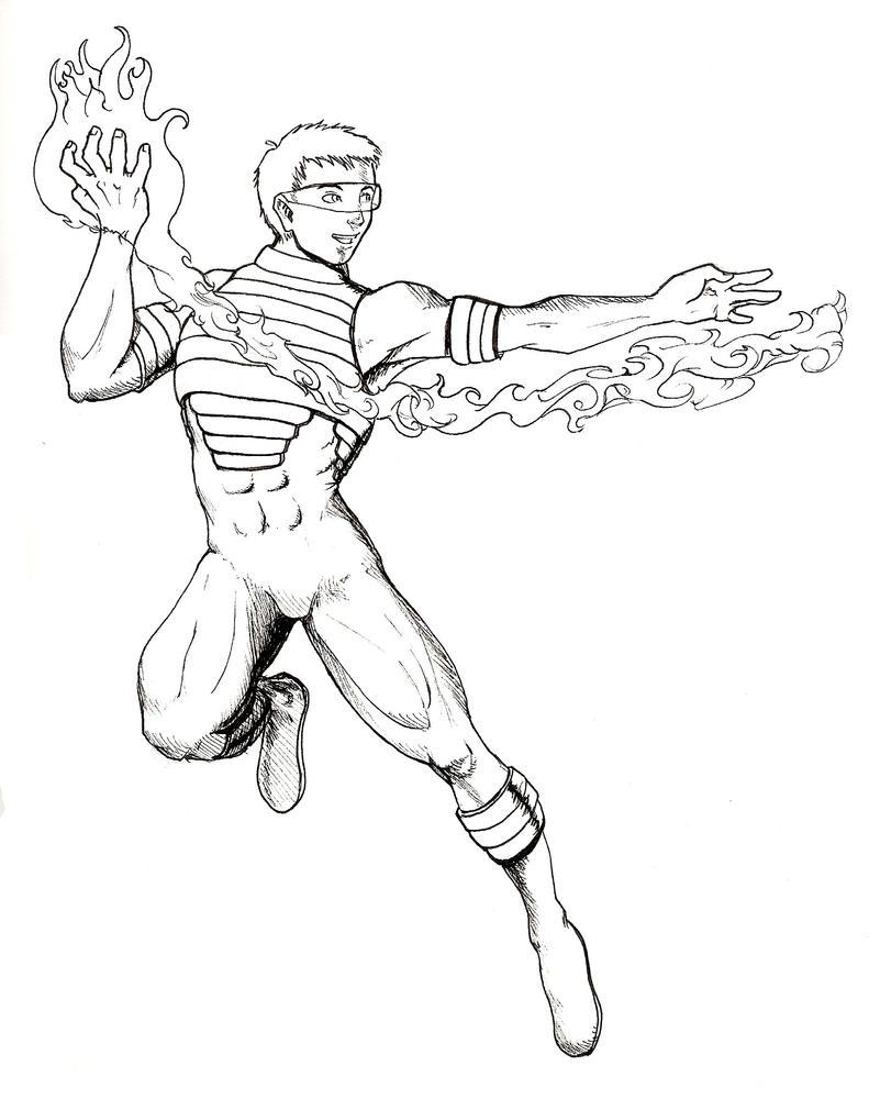 Line Drawing Quiet : Fire hero by obi quiet on deviantart