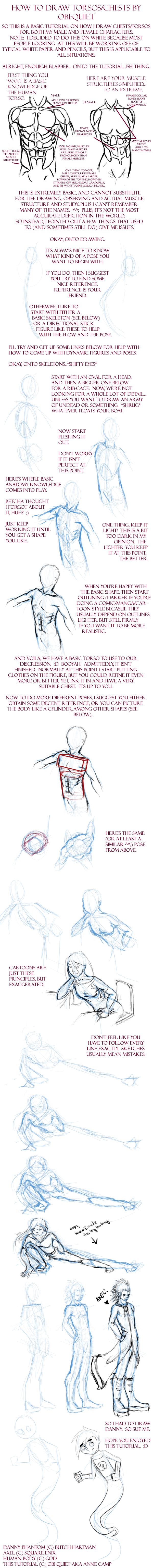 How to draw human torsos by Obi-quiet